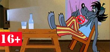 Кадр из мультипликационного фильма «Ну, погоди!» Студия «Союзмультфильм». 1972. Режиссер Вячеслав Котеночкин. Сценаристы Александр Курляндский, Аркадий Хайт. Коллаж: ФОМ-МЕДИА